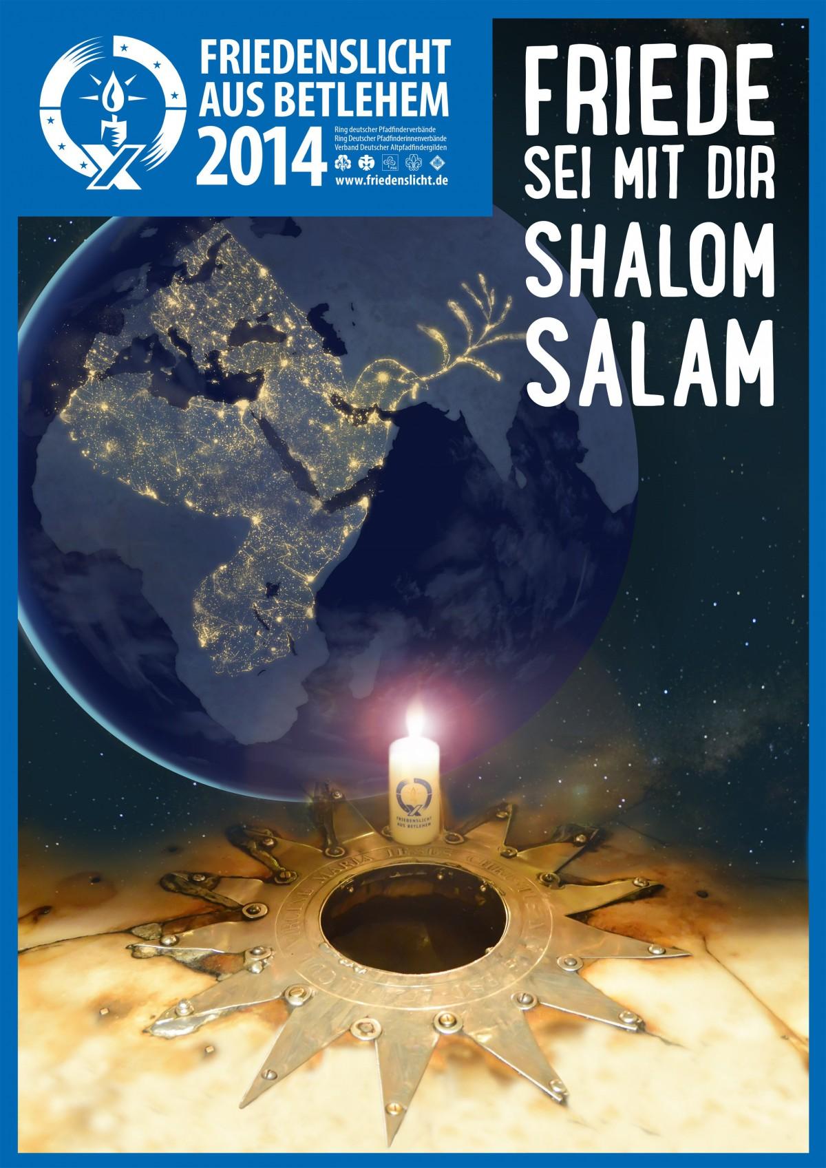 Das Plakat zum Friedenslicht 2014